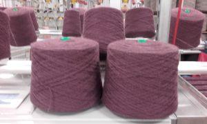 Plied (folded) yarn on cone